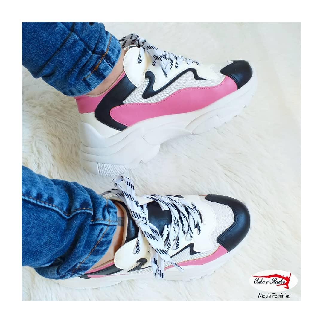 Tênis Zatz Chunky Sneaker Recortes Feminino - Z302717535