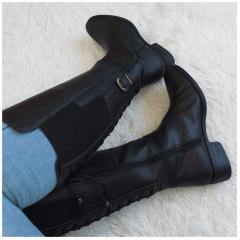Bota Mega Boots Cano Alto Ajuste Perna Feminina - 987