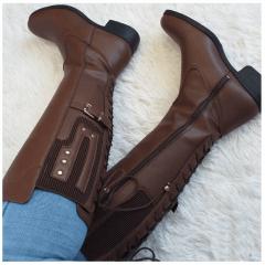 Bota Mega Boots Cano Alto Ajuste Perna Feminina - 988
