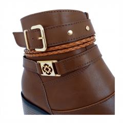 Bota Mega Boots Cano Curto Detalhes Feminina - 1338