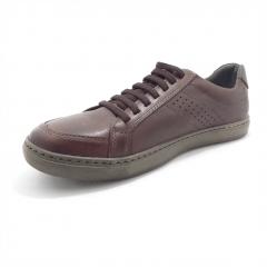 Sapatenis Mega Boots Couro Legítimo Cadarço em Elástico Masculino - 15044