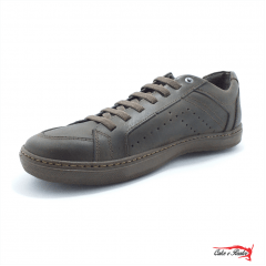 Sapatenis Mega Boots Masculino Couro Cadarço Elastico - 16002