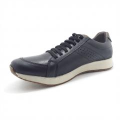 Sapatenis Tênis Mega Boots Couro Legítimo Cadarço em Elástico Masculino - 12032